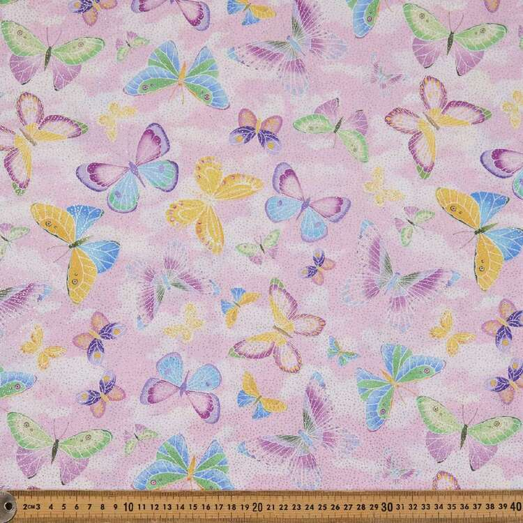 Sparklefly Printed 112 cm Cotton Poplin Fabric