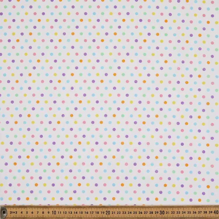 Glitter Spots Printed 112 cm Cotton Poplin Fabric