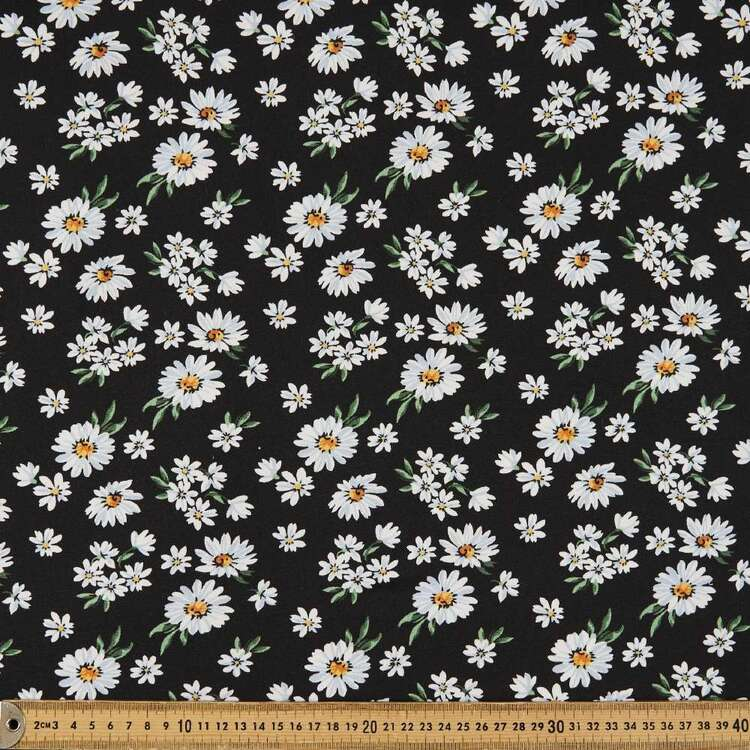 Daisy Printed 148 cm Brushed Knit Fabric