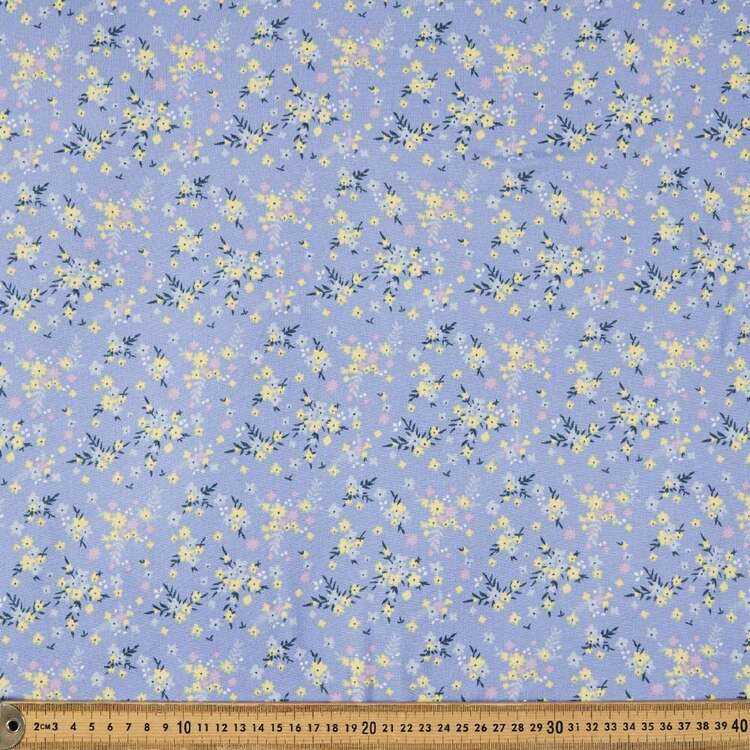 Pretty Flowers Printed 148 cm Brushed Double Knit Fabric