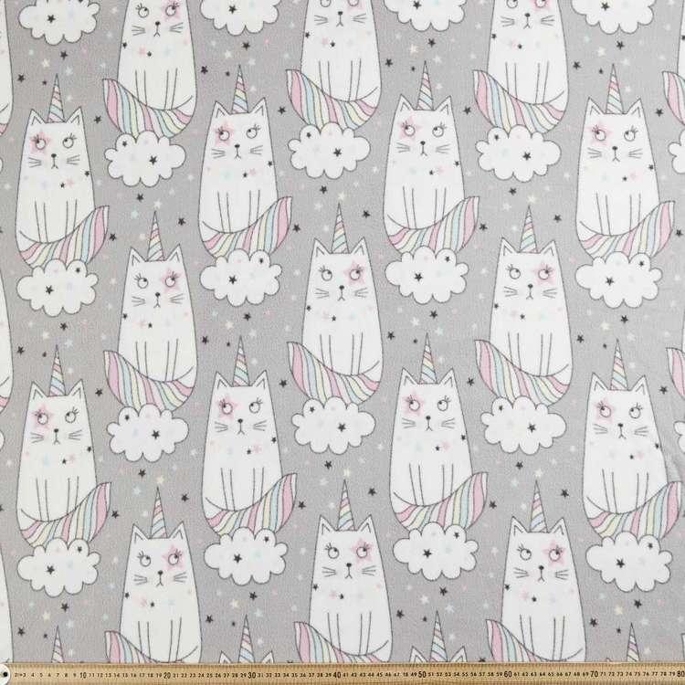 Unikitty Printed 148 cm Micro Fleece Fabric