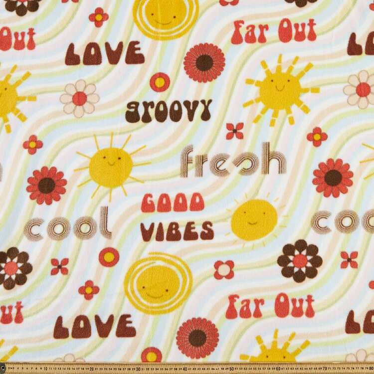 Sunny Day Printed 148 cm Micro Fleece Fabric
