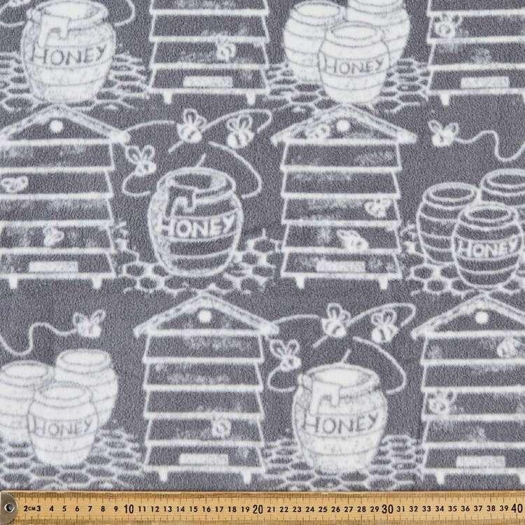Honey Jars Printed 148 cm Micro Fleece Fabric