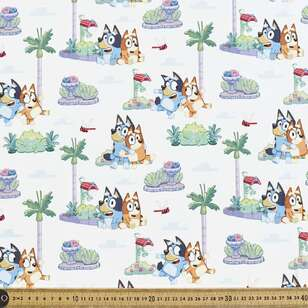 Bluey Family Portrait Cotton Fabric