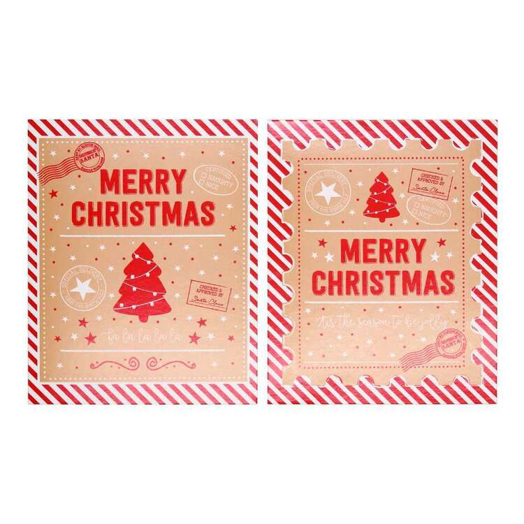 Jolly & Joy Small Merry Christmas Cards 25 Pack