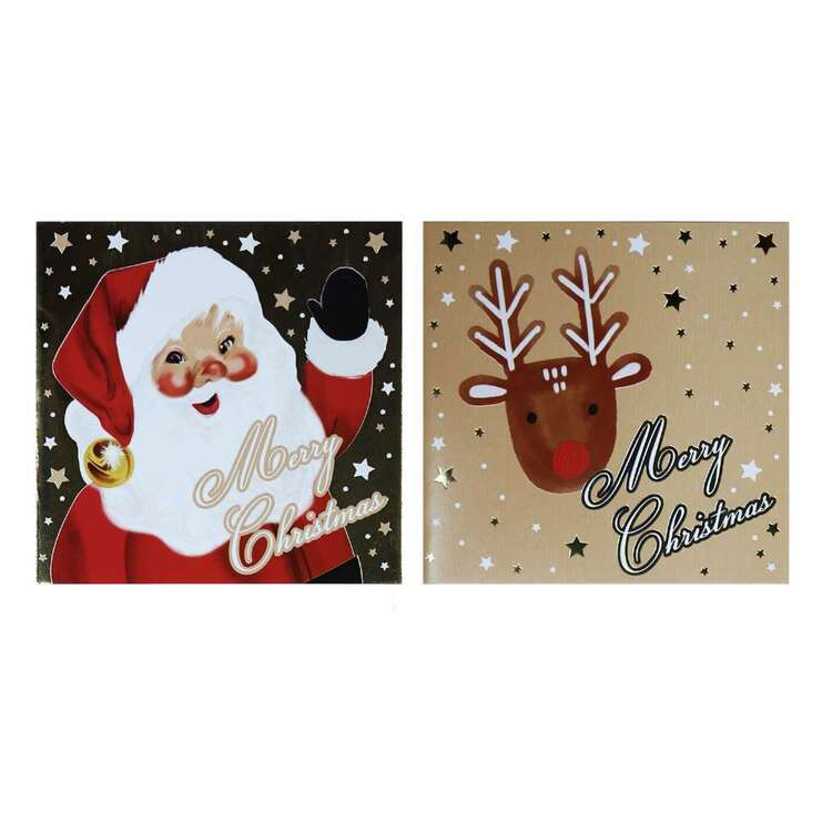 Jolly & Joy Santa Cards 12 Pack