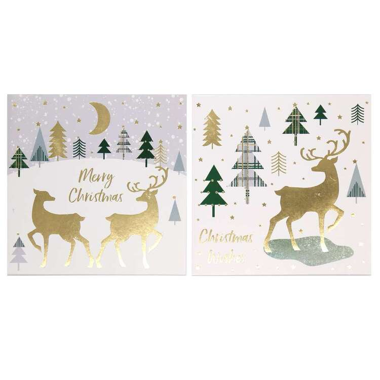 Jolly & Joy Reindeer Cards 12 Pack
