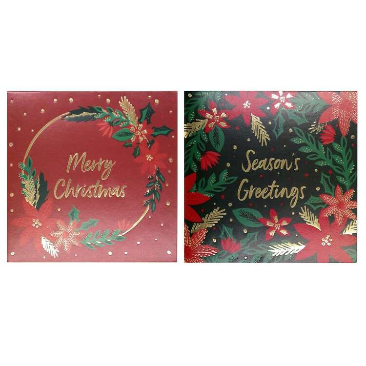 Jolly & Joy Poinsettia Cards 12 Pack