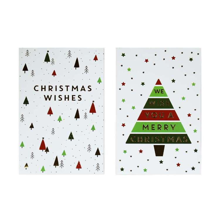 Jolly & Joy Wishes Cards 12 Pack Multicoloured 12 x 18 cm
