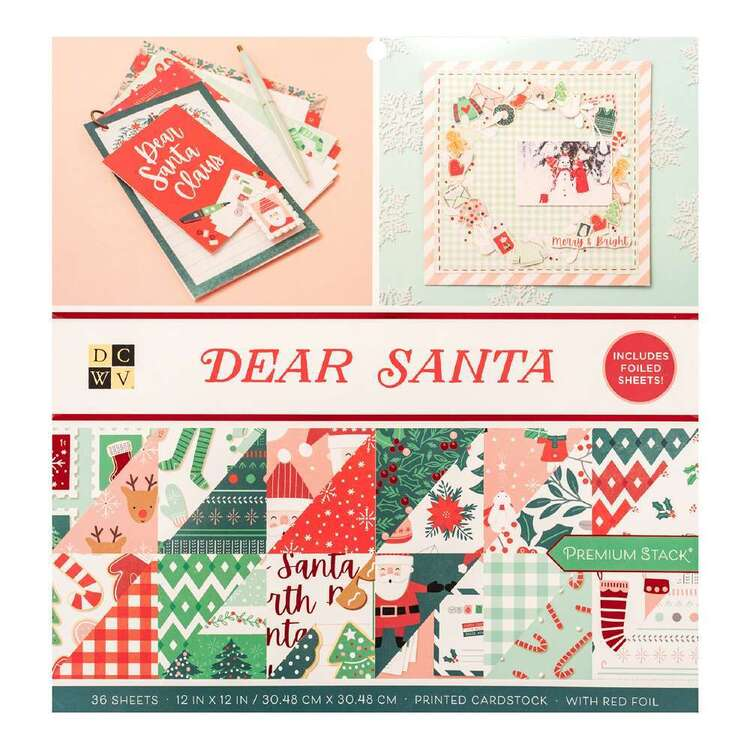 Die Cuts With a View By American Crafts Dear Santa Paper Pad