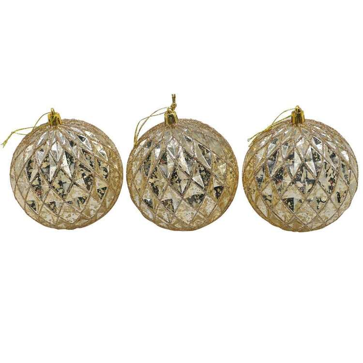 Jolly & Joy Mercury Baubles 3 Pack