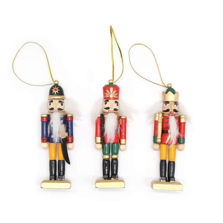 Jolly & Joy Wooden Nutcracker 3 Pack