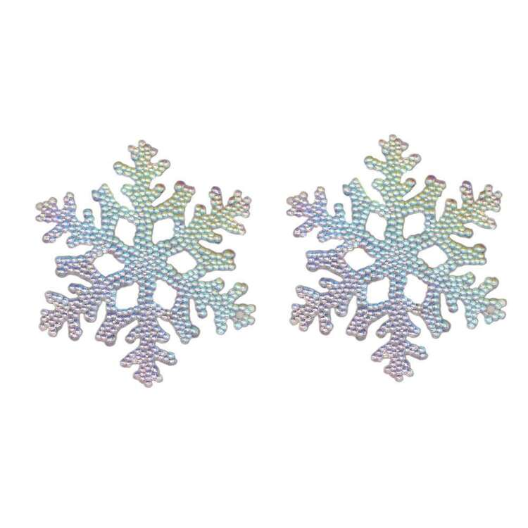 Jolly & Joy Snowflake Decoration 2 Pack