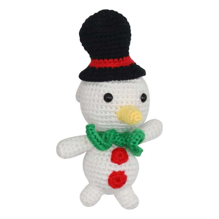 Jolly & Joy Crochet Snowman