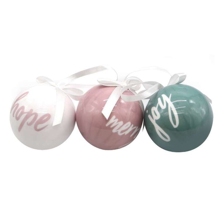 Jolly & Joy Merry Joy Hope Baubles 3 Pack