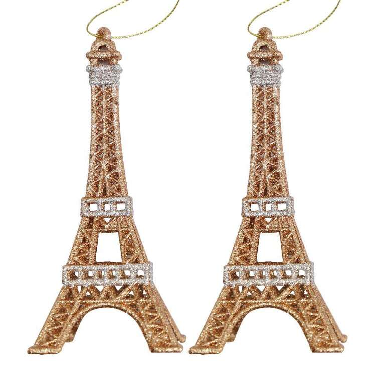 Jolly & Joy Copper & Silver Eiffel Tower 2 Pack