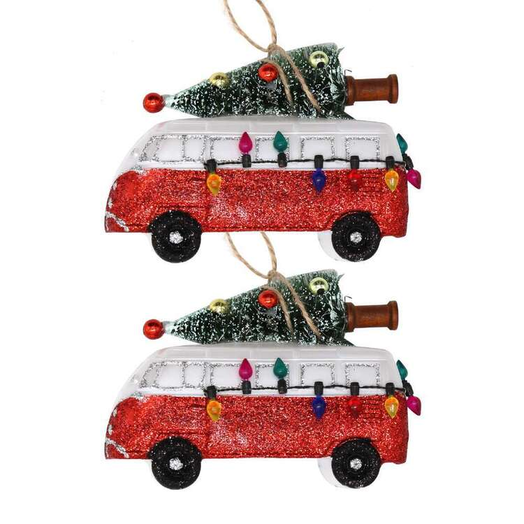 Jolly & Joy Campervan Tree Decoration 2 Pack