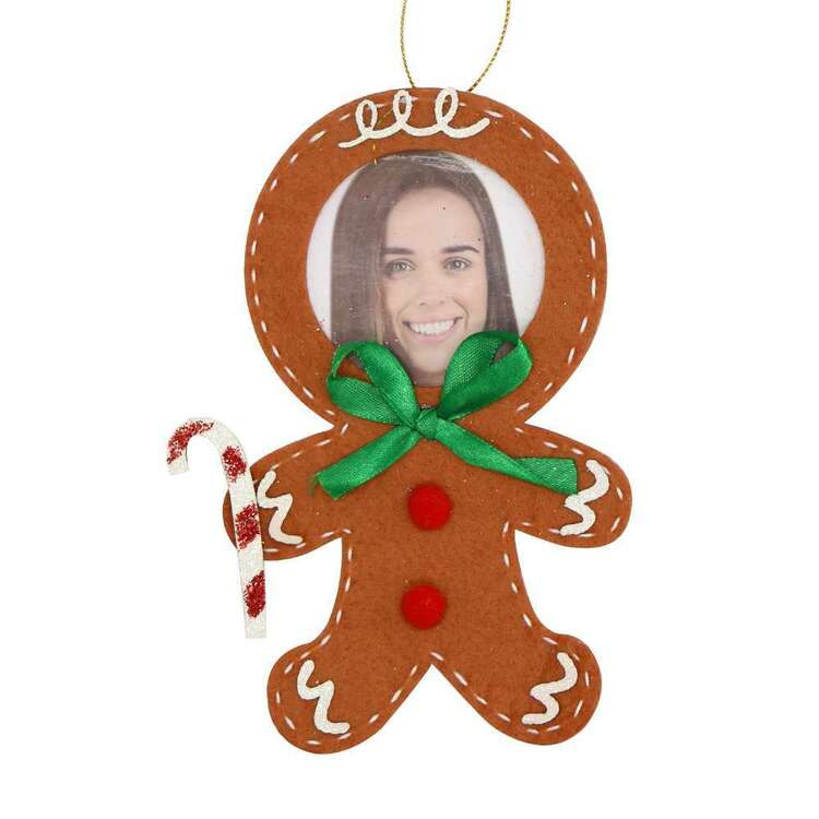 Jolly & Joy Felt Gingerbread Man Photo Insert