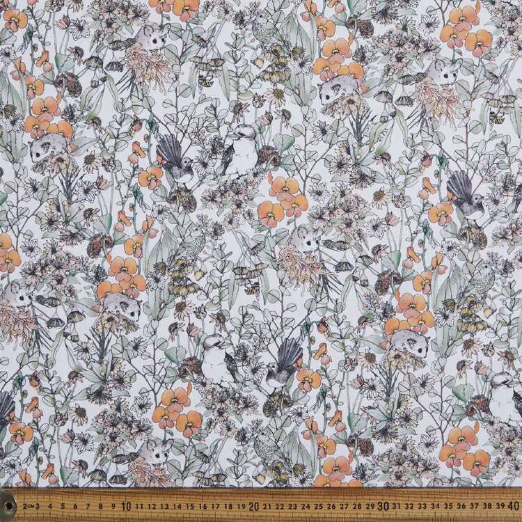 Scenic Route Ringtail Possum Cotton Fabric