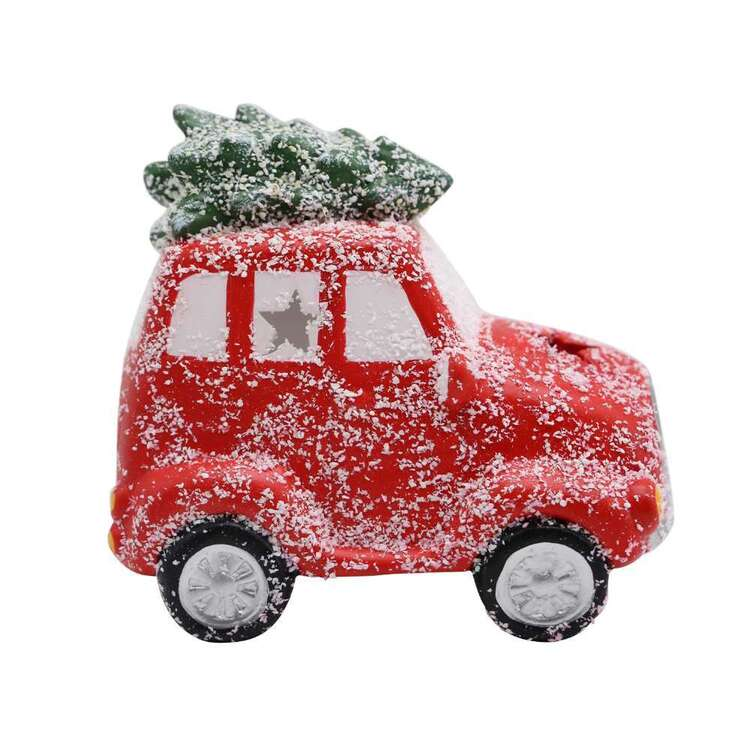 Jolly & Joy Ceramic Red Car With Tree