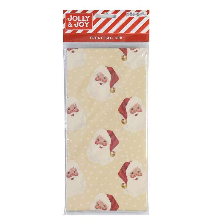 Jolly & Joy Santa Kraft Paper Treat Bags 8 Pack