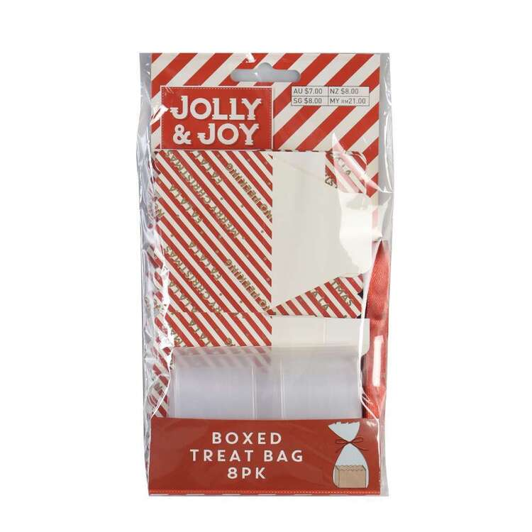 Jolly & Joy Stripe Boxed Treat Bags 8 Pack