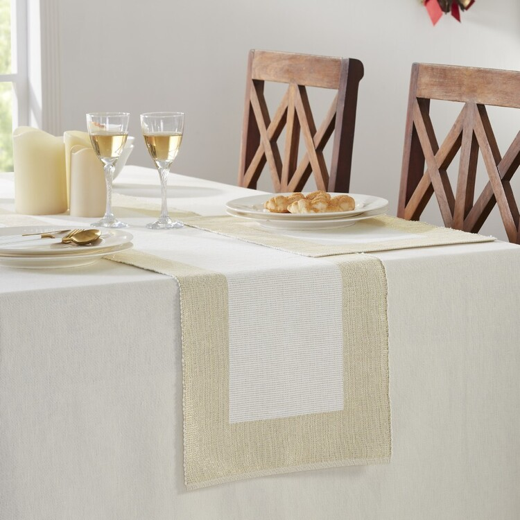 Living Space Festive Sparkle Lurex Table Runner
