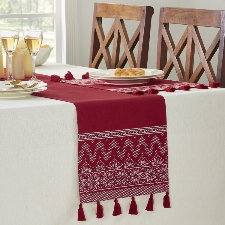 Living Space Festive Nordic Printed Table Runner