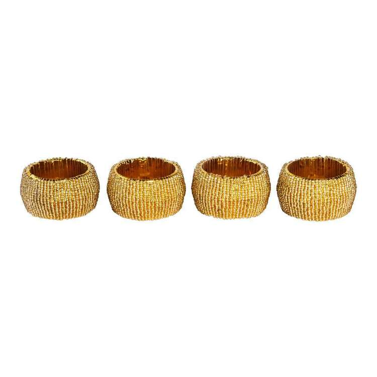 Living Space Festive Twinkle Napkin Ring 4 Pack
