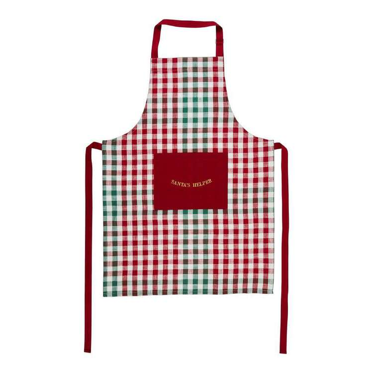Living Space Festive Santa Helper Printed Apron