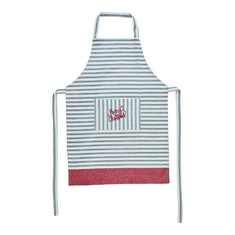 Living Space Festive North Embroidered Stripe Apron
