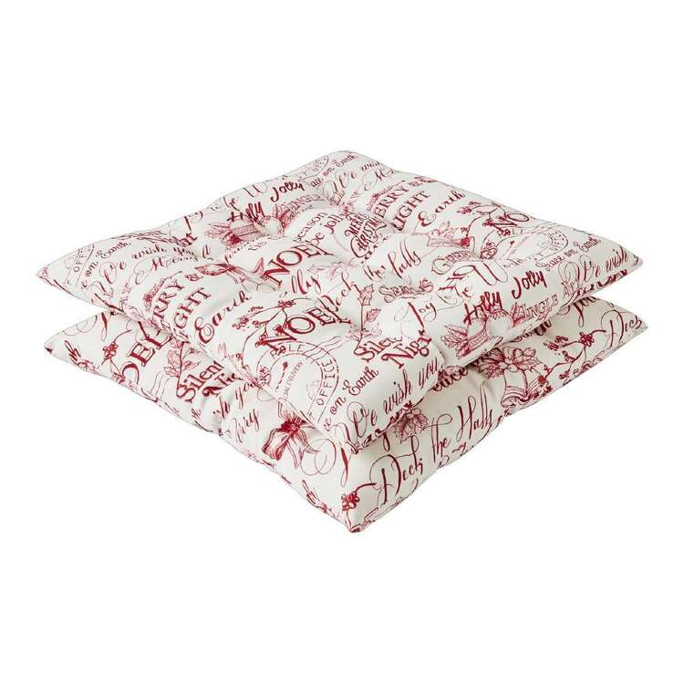 Living Space Festive Noel Printed 2 Pack Chair Pad