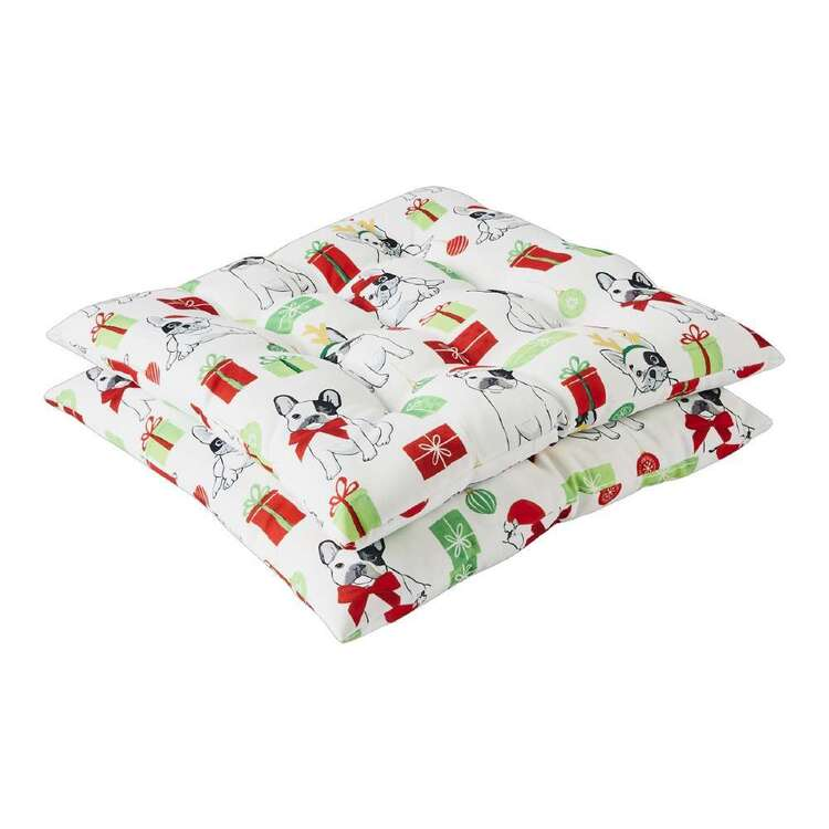 Living Space Festive Santa Paws 2 Pack Chair Pad