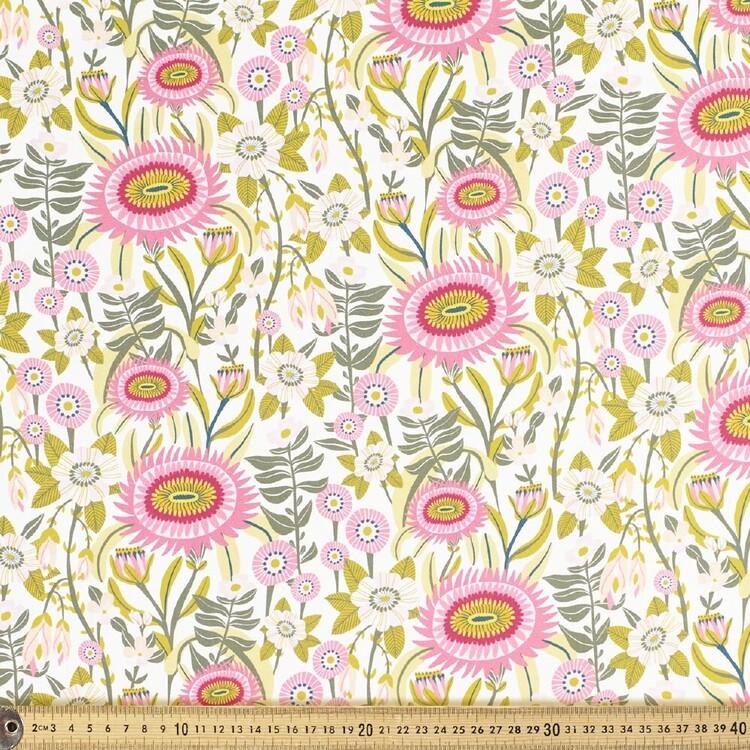 Kirsten Katz Folk Cottage Garden Cotton Fabric