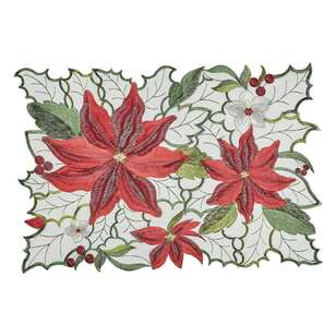 Living Space Festive Belles Embroidered Placemat