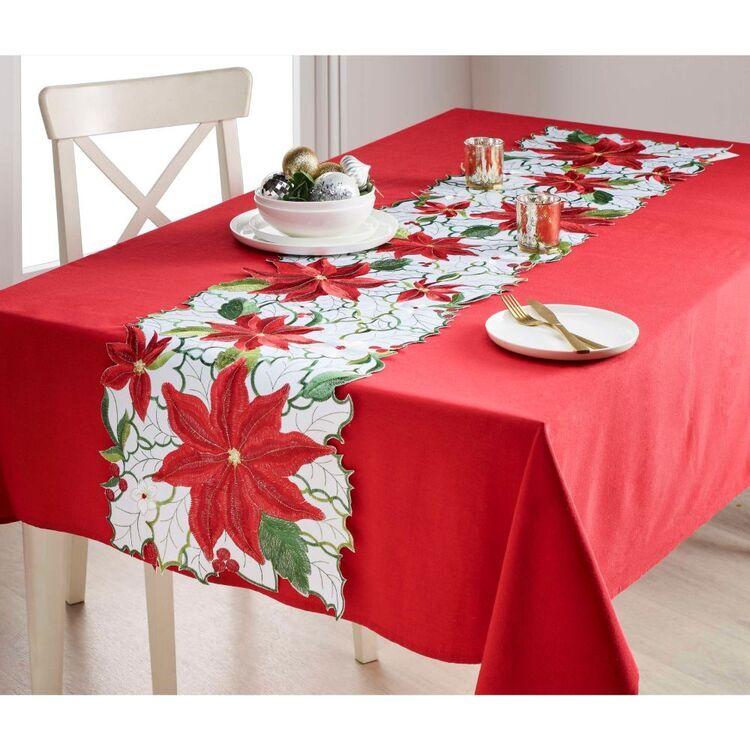 Living Space Festive Belles Embroidered Table Runner