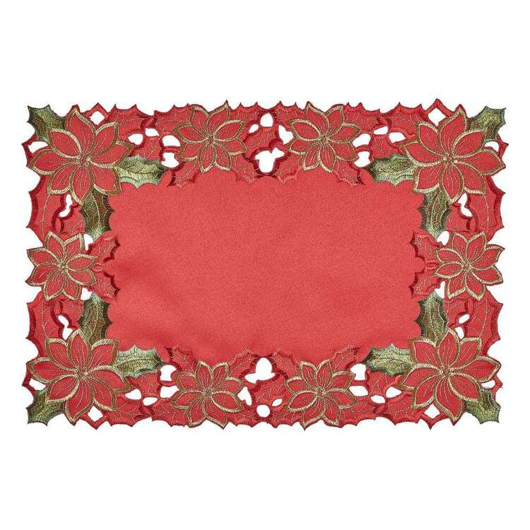 Living Space Festive Joyous Embroidered Placemat