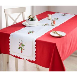 Living Space Festive Glory Embroidered Table Runner