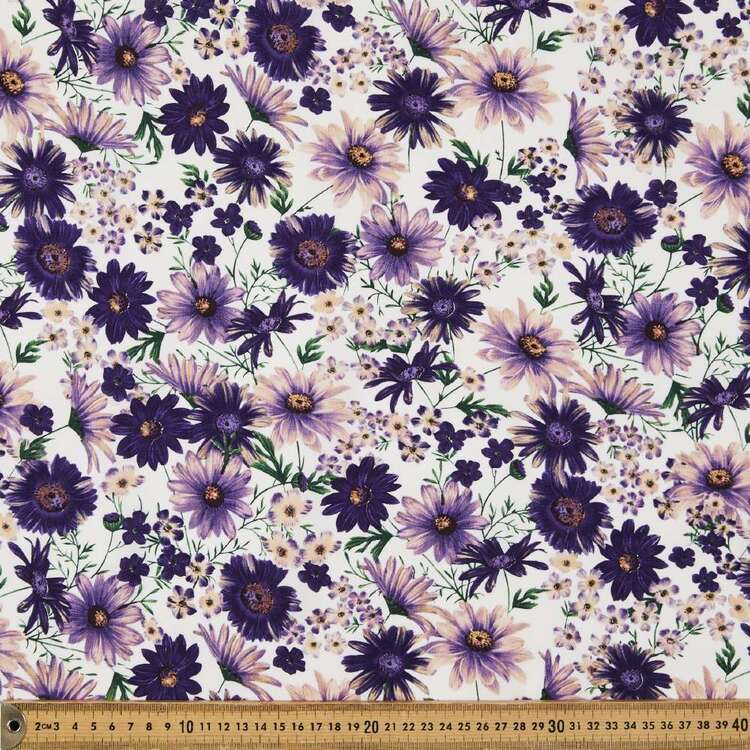 Ups A Daisy Printed 135 cm Rayon Fabric