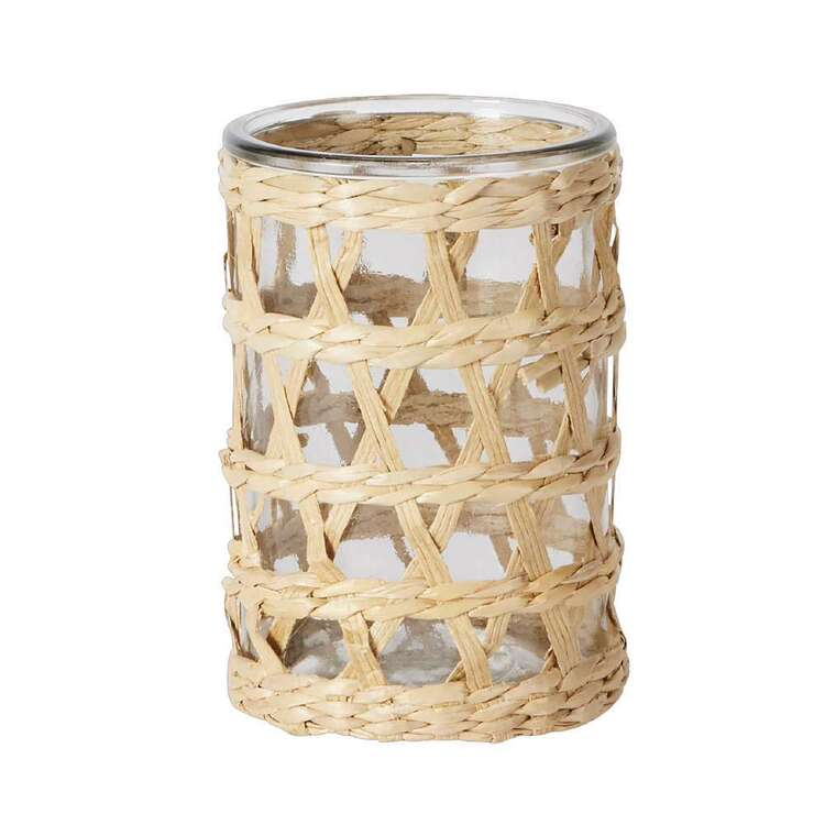 Living Space Tuscan Sun Candle Holder With Rattan