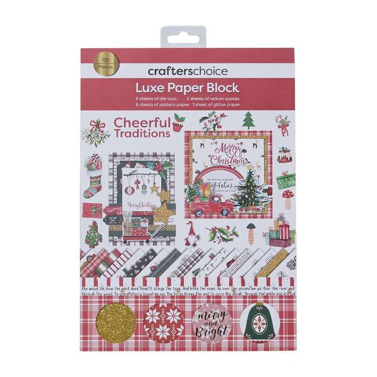 Crafters Choice Cheerful Traditions Luxe Paper Block