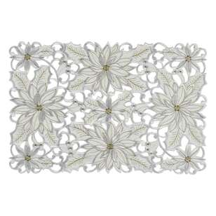 Living Space Festive Starlight Embroidered Placemat