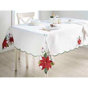 Living Space Festive Belles Embroidered Tablecloth