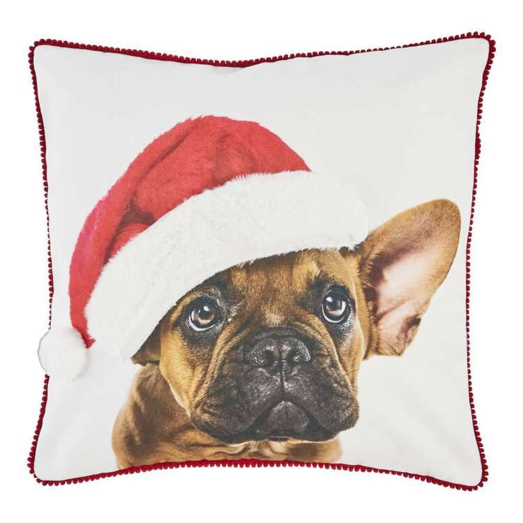 Living Space Festive Frenchie Printed Cushion
