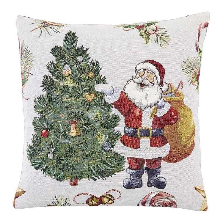 Living Space Festive Santa Tapestry Cushion
