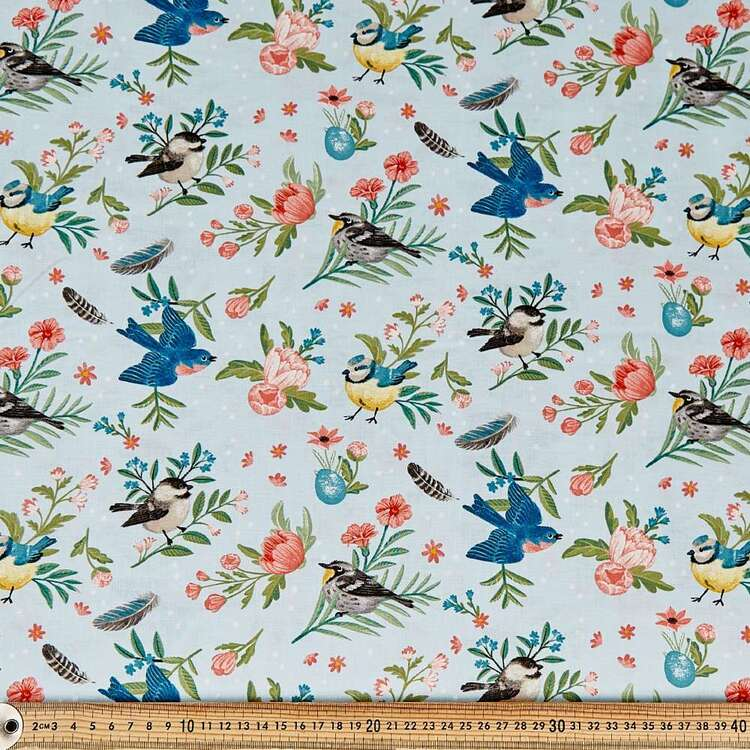 Birds & Feathers Cotton Fabric