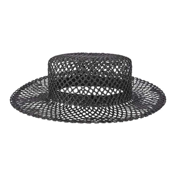 Maria George Fishnet Wide Brim Hat
