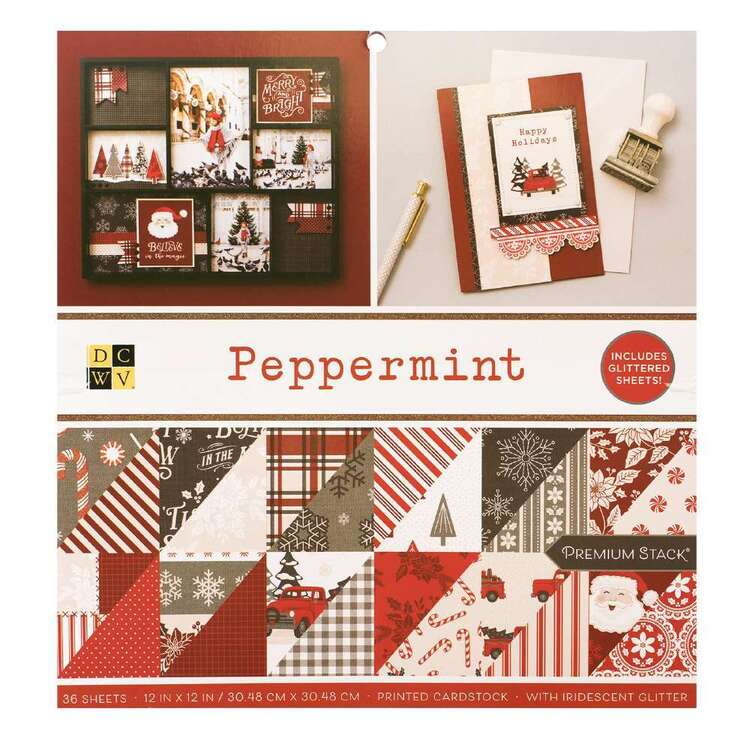 Die Cuts With a View By American Crafts Peppermint Paper Pad