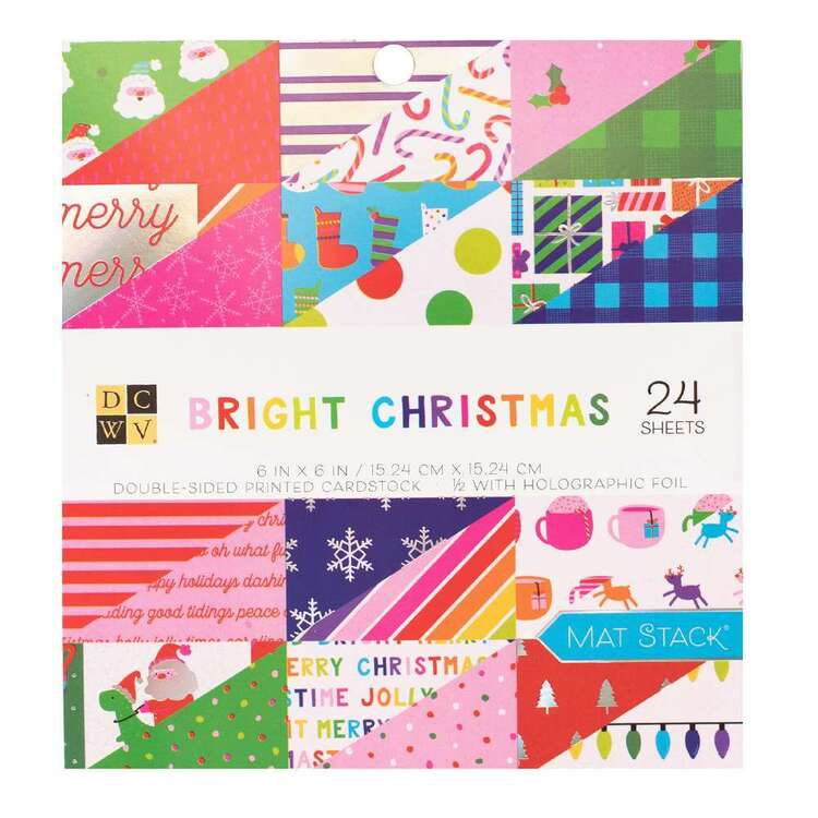 Die Cuts With a View By American Crafts Bright Christmas Paper Pad