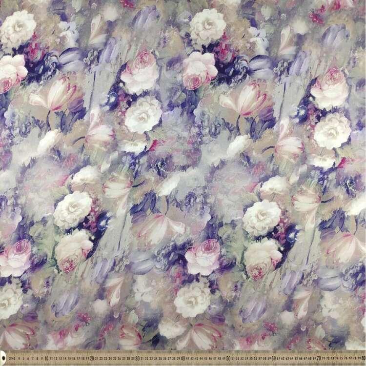 Watercolour Digital Printed 127 cm Sateen Fabric